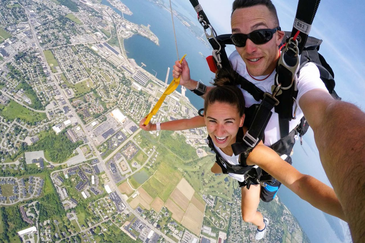 Skydiving near New Jersey